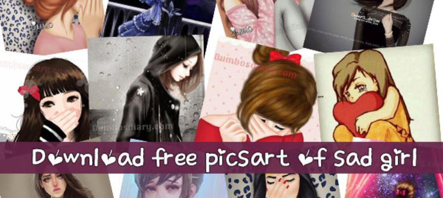 Download free picsart or drawing pictures of sad or alone girl